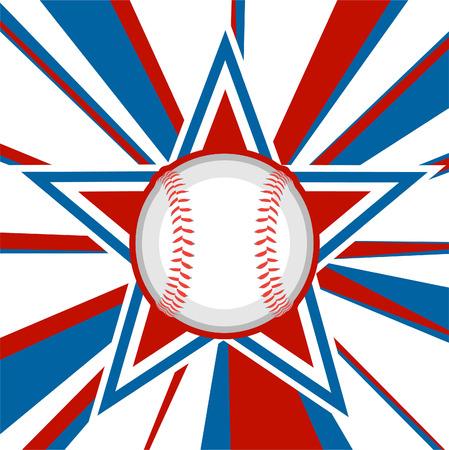 아메리칸 스타의 야구 공 일러스트