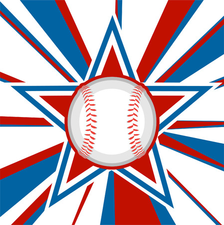 Baseball ball in american star