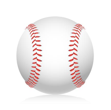 pelota de beisbol: Bola del béisbol ilustración Vectores