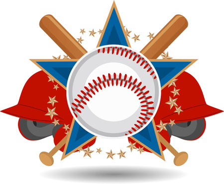 Baseball fun insignia Иллюстрация
