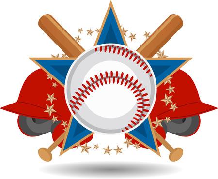 Baseball fun insignia 向量圖像