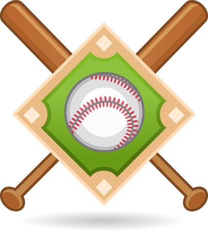 fast pitch: Baseball insignia Illustration