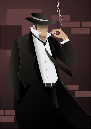 Detective Private investigator 矢量图像