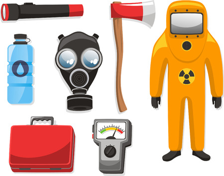 medical equipment: Emergency elements set vector illustration collection.