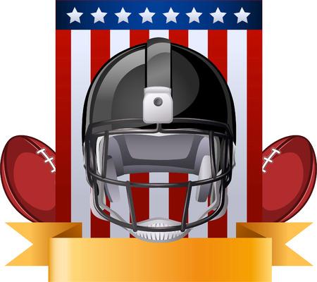 helmet football team: Football helmet american flag