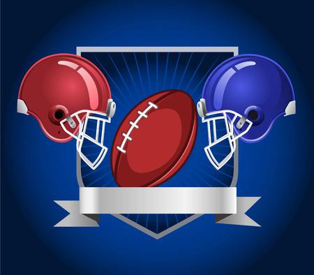 football helmets: Football helmets blue background