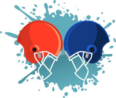 football helmets: Football helmets clashing splash