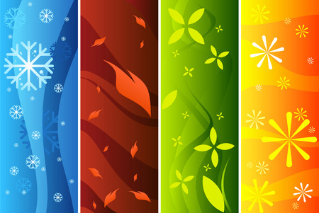 Four seasons banners. Vector