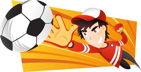 soccer Goalkeeper going for the ball