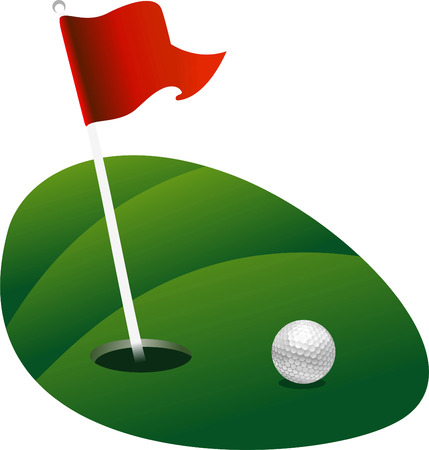 Golf grond groene vector illustratie Stock Illustratie