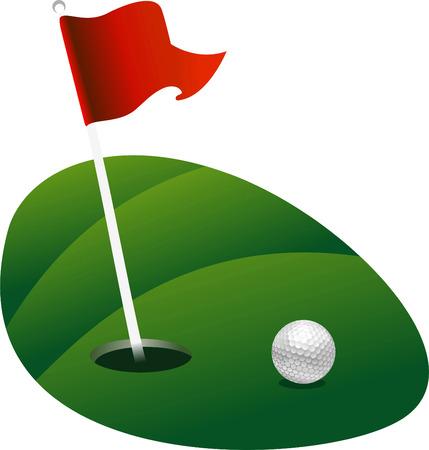 Golf land green vector illustration Illustration