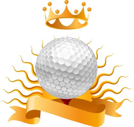 Golf Winner Sun Ball vector illustration