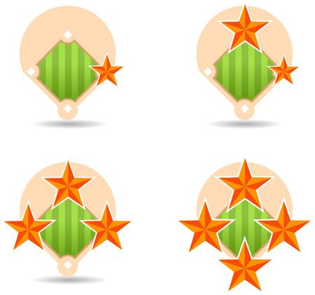 home run: Home run star marks icons