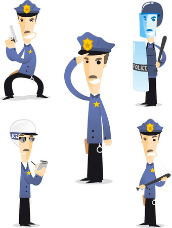 worker cartoon: Police cartoon collection 1. Illustration