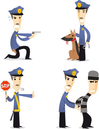 police hat: Police cartoon collection 2