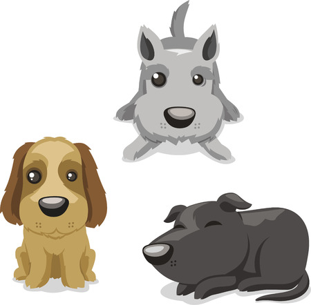 trained: Dog puppy kennel doggy, vector illustration cartoon.