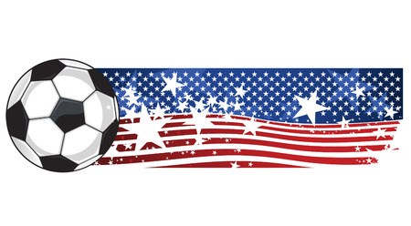 floodlit: American Soccer Football Flag vector illustration.