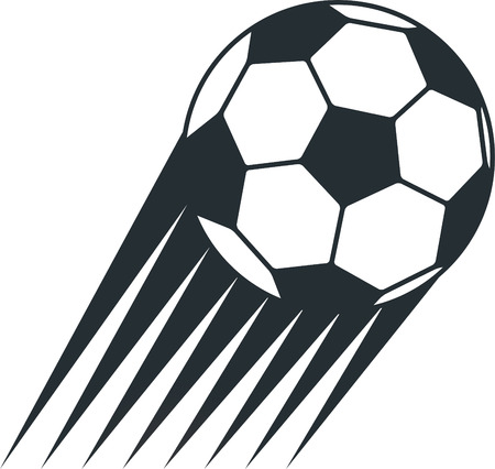 Soccer ball power lines Vector
