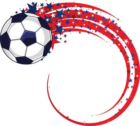 spin: soccer ball spin vector cartoon illustration