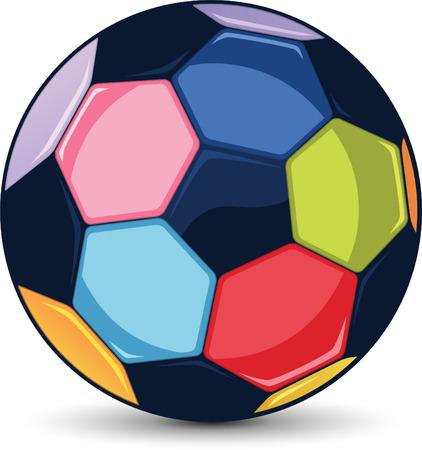 Soccer colour ball illustration Illustration