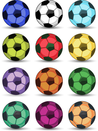 Soccer colour ball icons