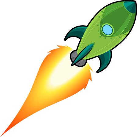 booster: Espacio de dibujos animados de cohetes Vectores