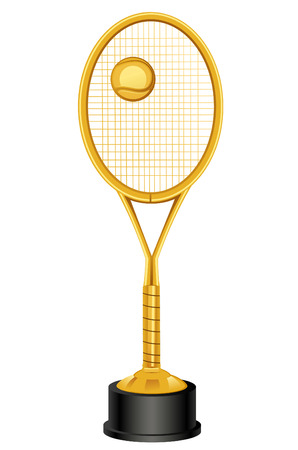 raquet: Tennis raquet throphy Illustration