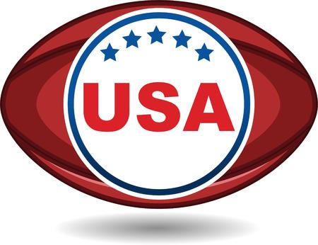 Football ball with uSA sign Illustration
