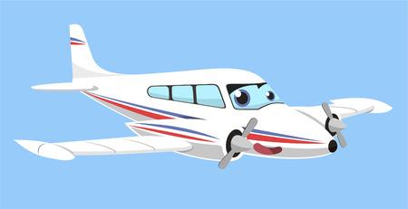 passanger: twin-engine airplane cartoon vector illustration Illustration