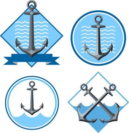 Anchor emblem illustrations 2 Illustration