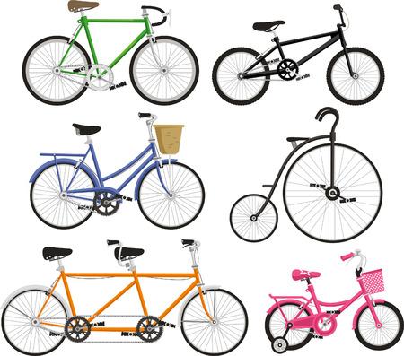 Bicycle Bike Cycling Cyclist Transportation Type, vector illustration cartoon.