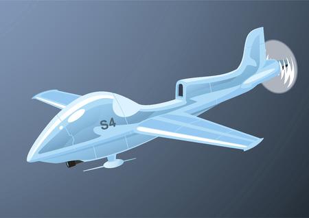 Airplane Drone Flying, vector illustration cartoon.  イラスト・ベクター素材