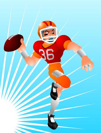 football quarterback illustration