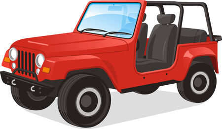 grille: Vector illustration of a vehicle, saved in layers for easy editing. Line drawing illustration also included.
