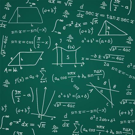Math Formula Blackboard Calculation Vector Illustration Cartoon. Vector