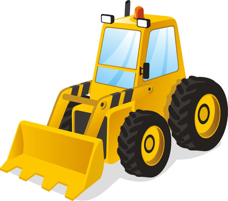 scraper: Power shovel truck
