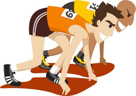 Racers over om te concurreren in een race