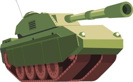 cold war: War Tank illustration