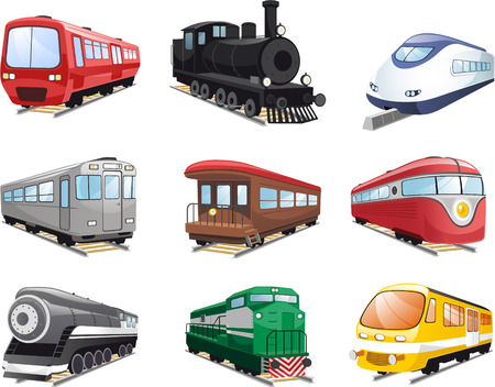 trein motor cartoon illustraties Stock Illustratie