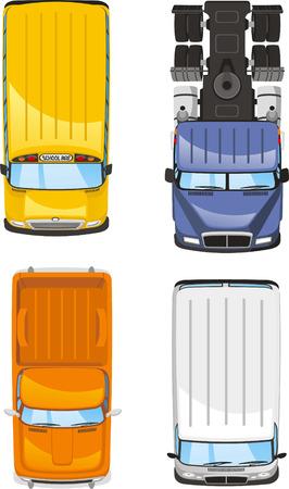 motor de carro: camiones y furgonetas ilustraciones