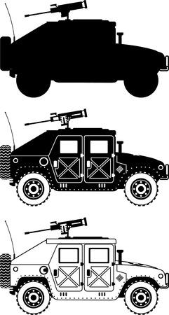 war humvee military icons vector illustration. Illustration