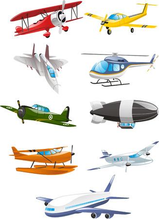 航空機、エアバス, 旅客機、大 gasbags、飛行船、飛行機コレクション固定翼の航空機、単葉機、複葉機、回転翼航空機、グライダー、凧、航空機エン