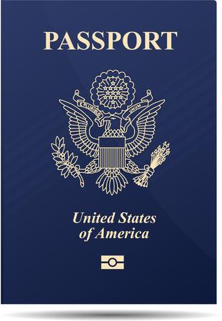 United states of america passport 일러스트
