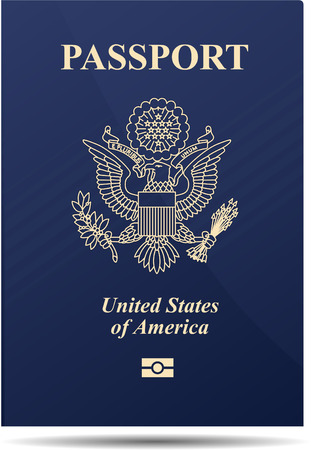 emigration: United states of america passport Illustration