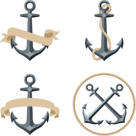 Anchor emblem illustrations