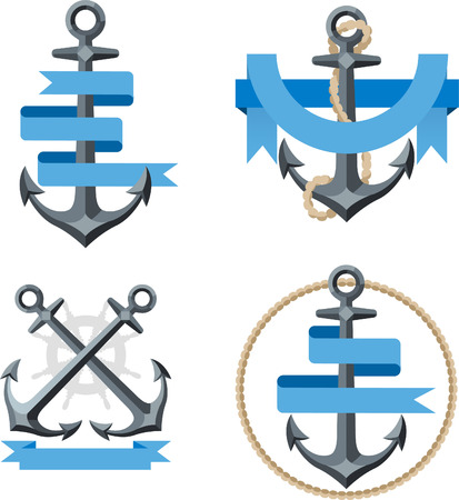 Anchor emblem illustrations 3 Illustration