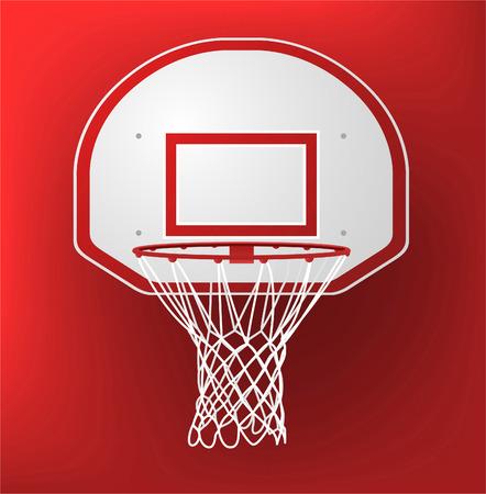 basketball court: basketball hoop illustration