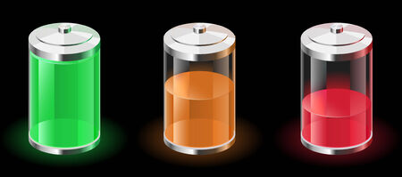cadmium: Battery Charge Power Line vector illustration. Illustration