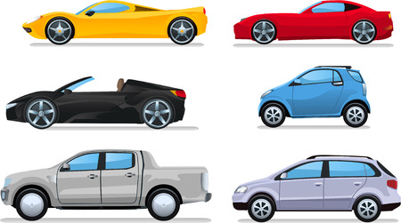 Car cartoon illustrations Vectores