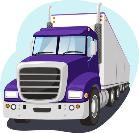 Cargo Truck Fright Transportation Industry, vector illustration cartoon.
